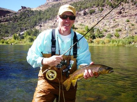 fly fishing for Green River brown trout